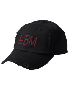 Edna Bigham Mays Elementary School Trojans Embroidered Distressed Cap