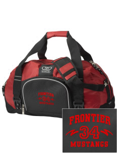 Frontier School Mustangs  Embroidered OGIO Big Dome Duffel Bag