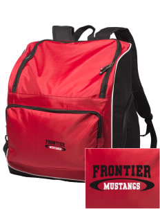 Frontier School Mustangs Embroidered Holloway Duffel Bag