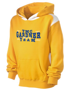 The Master's Christian Academy Gardner Kid's Pullover Hooded Sweatshirt with Contrast Color