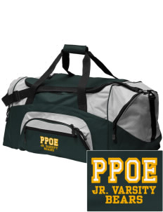 Pikes Peak School of Expeditionary Learn Bears Embroidered Colorblock Duffel Bag