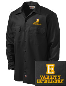 Einstein Elementary School Einstein Elementary Embroidered Dickies Men's Long-Sleeve Workshirt