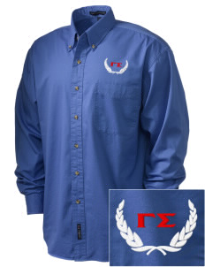 Gamma Sigma Embroidered Tall Men's Twill Shirt