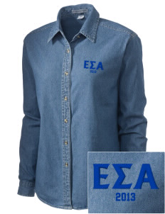 Epsilon Sigma Alpha Embroidered Women's Denim Long Sleeve