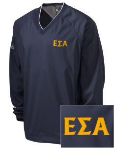 Epsilon Sigma Alpha Embroidered adidas Men's ClimaProof V-Neck Wind Shirt