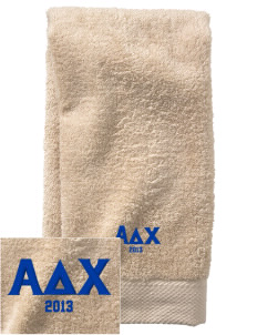 Alpha Delta Chi  Embroidered Zero Twist Resort Hand Towel