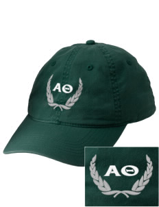 Alpha Theta Embroidered Vintage Adjustable Cap