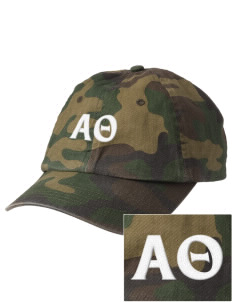 Alpha Theta Embroidered Camouflage Cotton Cap