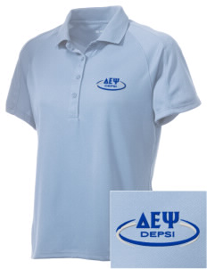 Delta Epsilon Psi Embroidered Women's Polytech Mesh Insert Polo