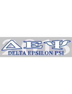 "Delta Epsilon Psi Bumper Sticker 11"" x 3"""