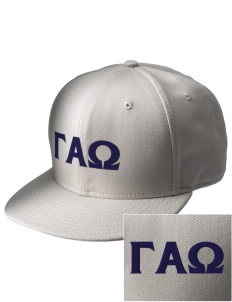 Gamma Alpha Omega  Embroidered New Era Flat Bill Snapback Cap