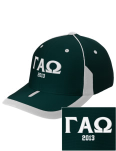 Gamma Alpha Omega Embroidered M2 Universal Fitted Contrast Cap