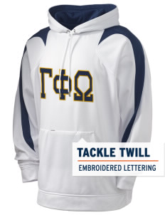 Gamma Phi Omega Holloway Men's Sports Fleece Hooded Sweatshirt with Tackle Twill