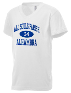 All Souls Parish Alhambra Kid's V-Neck Jersey T-Shirt