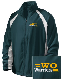 Western Oaks Elementary School Warriors  Embroidered Men's Full Zip Warm Up Jacket
