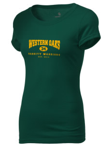 Western Oaks Elementary School Warriors Holloway Women's Groove T-Shirt