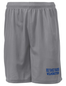 "Holy Family Parish Wilmington Men's Mesh Shorts, 7-1/2"" Inseam"