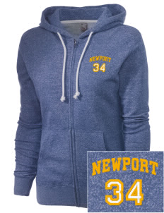 Holy Spirit Parish Newport Embroidered Women's Marled Full-Zip Hooded Sweatshirt