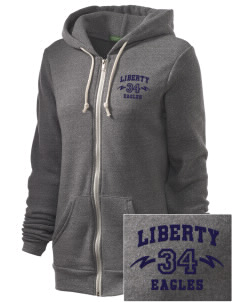 Liberty Elementary School Eagles Embroidered Alternative Unisex The Rocky Eco-Fleece Hooded Sweatshirt