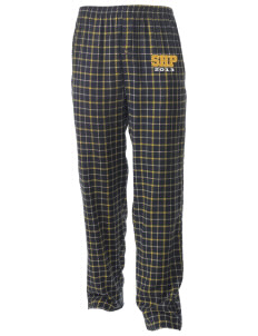 Sacred Heart Parish Ely Men's Button-Fly Collegiate Flannel Pant with Distressed Applique