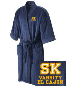 Saint Kieran El Cajon Embroidered Terry Velour Robe