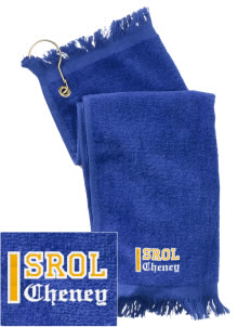 Saint Rose of Lima Cheney  Embroidered Grommeted Finger Tip Towel