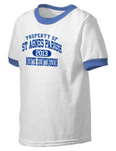 St Agnes Parish North Huntingdon Kid's Ringer T-Shirt
