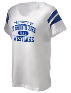 St Bernadette Church Westlake Holloway Women's Shout Bi-Color T-Shirt