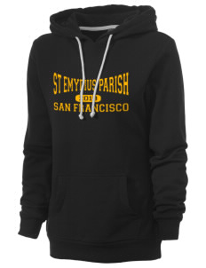 St Emydius Parish San Francisco Women's Core Fleece Hooded Sweatshirt
