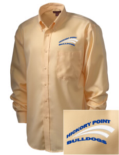 Hickory Point Elementary School Bulldogs  Embroidered Men's Nailhead Non-Iron Button-Down
