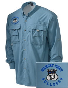 Hickory Point Elementary School Bulldogs Embroidered Men's Explorer Shirt with Pockets