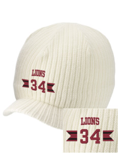 Lowell Longfellow Elementary School Lions Embroidered Knit Beanie with Visor