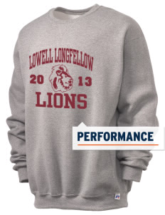Lowell Longfellow Elementary School Lions  Russell Men's Dri-Power Crewneck Sweatshirt