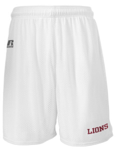 "Lowell Longfellow Elementary School Lions  Russell Men's Mesh Shorts, 7"" Inseam"