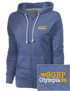 St George Byzantine Parish Olympia Embroidered Women's Marled Full-Zip Hooded Sweatshirt
