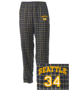 St George Parish Seattle Embroidered Men's Button-Fly Collegiate Flannel Pant