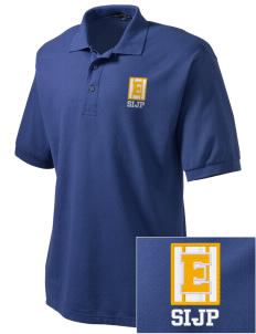 St Isaac Jogues Parish East Hartford Embroidered Tall Men's Silk Touch Polo