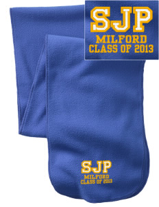 St Joseph Parish Milford  Embroidered Extra Long Fleece Scarf