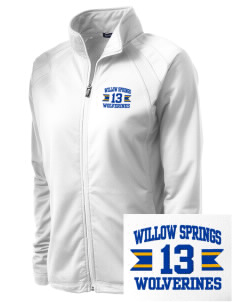 Willow Springs Elementary School Wolverines Embroidered Women's Tricot Track Jacket