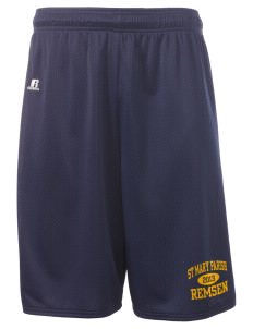 "St Mary Parish Remsen  Russell Deluxe Mesh Shorts, 10"" Inseam"