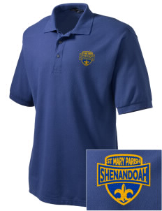 St Mary Parish Shenandoah Embroidered Tall Men's Silk Touch Polo