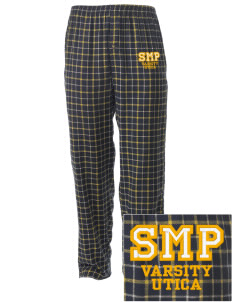 St Mary Parish Utica Embroidered Men's Button-Fly Collegiate Flannel Pant