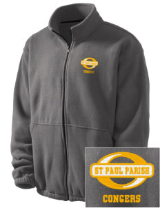 St Paul Parish Congers Embroidered Men's Fleece Jacket