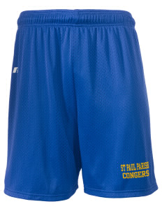 "St Paul Parish Congers  Russell Men's Mesh Shorts, 7"" Inseam"