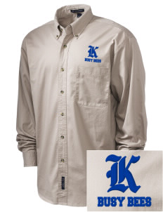 Kershaw Elementary School Busy Bees Embroidered Men's Twill Shirt