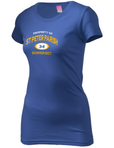 St Peter Parish Somerset  Juniors' Fine Jersey Longer Length T-Shirt