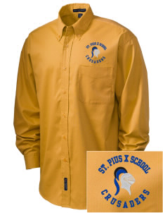 St. Pius X School Crusaders Embroidered Men's Easy-Care Shirt