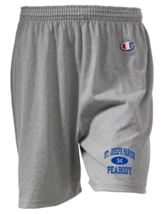 "St. Joseph Parish Peabody  Champion Women's Gym Shorts, 6"" Inseam"