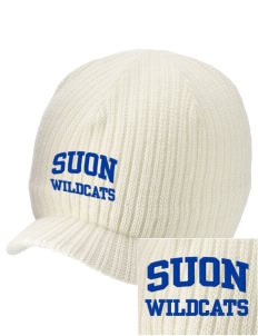 State University of New York Utica Wildcats Embroidered Knit Beanie with Visor
