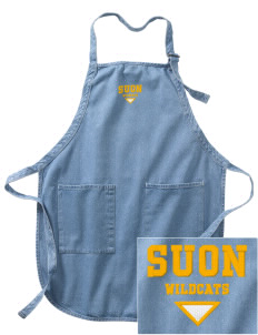 State University of New York Utica Wildcats Embroidered Full-Length Apron with Pockets